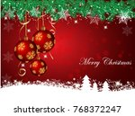 christmas background with...   Shutterstock .eps vector #768372247