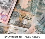 banknotes of united arab...   Shutterstock . vector #768373693