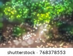 bokeh background blurred photo | Shutterstock . vector #768378553