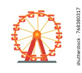 colorful ferris wheel from... | Shutterstock .eps vector #768380317