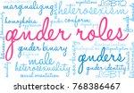 gender roles word cloud on a... | Shutterstock .eps vector #768386467