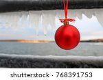 Red Christmas Ornament Hanging...