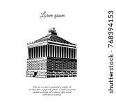 halicarnassus mausoleum.... | Shutterstock .eps vector #768394153