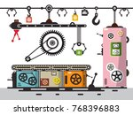 line of production. vector... | Shutterstock .eps vector #768396883