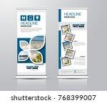 roll up vertical banner... | Shutterstock .eps vector #768399007