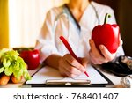 vegetable diet nutrition and...   Shutterstock . vector #768401407