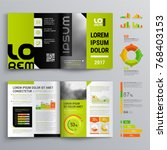 business brochure template... | Shutterstock .eps vector #768403153