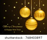 rectangular christmas or new... | Shutterstock .eps vector #768403897