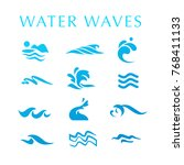 vector collection of flat water ... | Shutterstock .eps vector #768411133