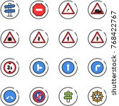 line vector icon set   road... | Shutterstock .eps vector #768422767