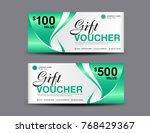 gift voucher template layout ...   Shutterstock .eps vector #768429367
