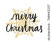 christmas theme concept with... | Shutterstock .eps vector #768442237