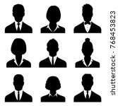 business avatars   profile... | Shutterstock .eps vector #768453823