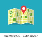 location map icon. location map ... | Shutterstock .eps vector #768453907