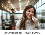 beautiful young woman in the... | Shutterstock . vector #768456997