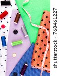 items for sewing clothes.... | Shutterstock . vector #768461227