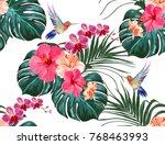 beautiful seamless vector... | Shutterstock .eps vector #768463993