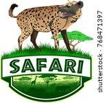 vector african savannah safari...   Shutterstock .eps vector #768471397