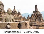 buddah statue with ancient...   Shutterstock . vector #768472987