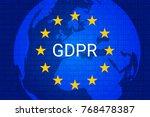 gdpr   general data protection... | Shutterstock .eps vector #768478387