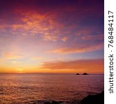 beautiful sunset over porth... | Shutterstock . vector #768484117