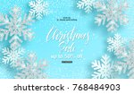 christmas sale. poster with... | Shutterstock .eps vector #768484903