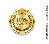 seal award gold icon. blank... | Shutterstock .eps vector #768485827