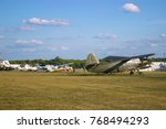 Small photo of Soviet Armoured Military Attack Aircraft At Aerodrome. Plane Designed To Provide Close Air Support For Troops In Fighting Day And Night In Any Weather Conditions