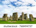 stonehenge  one of the wonders... | Shutterstock . vector #768494737