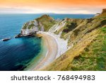 man o'war cove on the dorset... | Shutterstock . vector #768494983