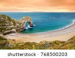 durdle door  world famous... | Shutterstock . vector #768500203