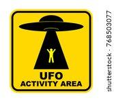 humorous danger road signs for... | Shutterstock .eps vector #768503077