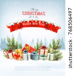 merry christmas holiday... | Shutterstock .eps vector #768506497