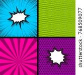 blank humor graphic. pop art... | Shutterstock .eps vector #768509077