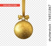 xmas balls gold color.... | Shutterstock .eps vector #768511867