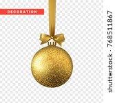 xmas balls gold color.... | Shutterstock .eps vector #768511867