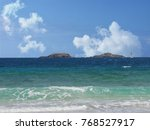 clear waves on the shores of...   Shutterstock . vector #768527917