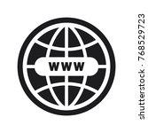 website vector icon  globe icon ... | Shutterstock .eps vector #768529723