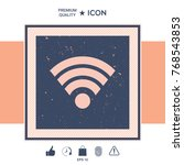 internet connection icon | Shutterstock .eps vector #768543853