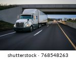 semi truck commercial vehicle... | Shutterstock . vector #768548263