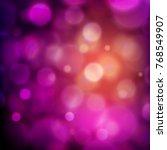 cool bokeh background | Shutterstock .eps vector #768549907