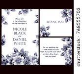 romantic invitation. wedding ... | Shutterstock . vector #768555703