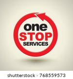 one stop services icon with red ... | Shutterstock .eps vector #768559573