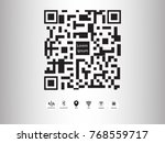 vector design qr code payment   ... | Shutterstock .eps vector #768559717