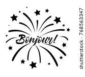 bonjour has mean hello ... | Shutterstock .eps vector #768563347