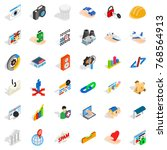 www link icons set. isometric... | Shutterstock .eps vector #768564913