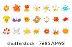 explosion icon set. cartoon set ... | Shutterstock .eps vector #768570493