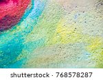 abstract color painting on... | Shutterstock . vector #768578287