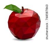 red apple. triangulation | Shutterstock .eps vector #768587863
