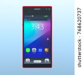 3d cg rendering of a smartphone | Shutterstock . vector #768620737
